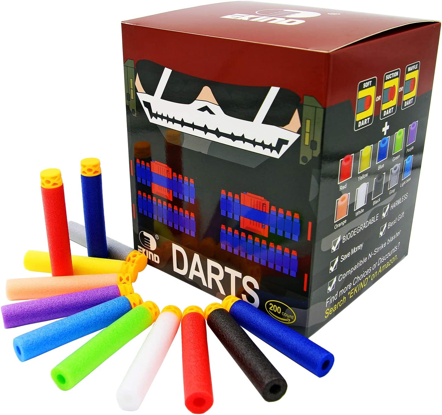 Waffle Tip Foam Darts Multiple colors and quantities