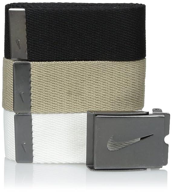 e360391dac Nike Men's 3 Pack Golf Web Belt, White/Khaki/Black, One Size: Amazon ...