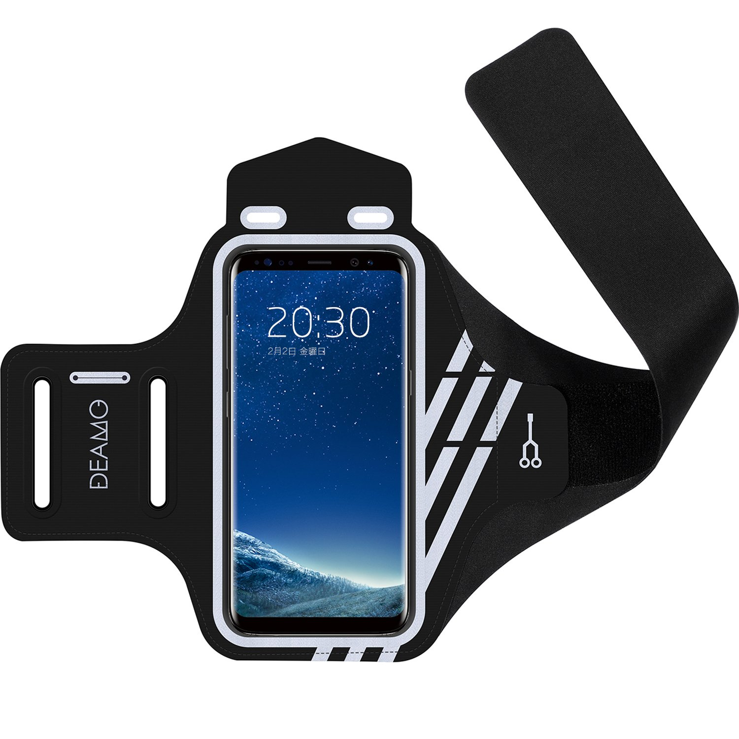 IPhone X, 8, 8+, 7, 7+, 6S, 6S+, 6, 6+ Samsung S8 S9 SPORTS Armband - Fingerprint Touch, Great for Running, Cycling or any Fitness Activity, Unique Hidden Pocket for Stores Cash, Cards and Keys.