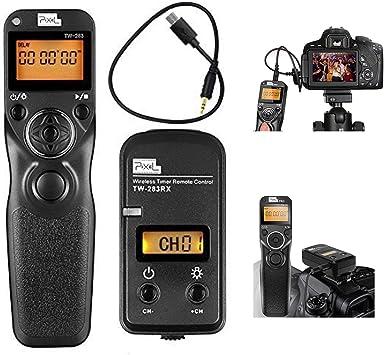 PIXEL Mando a Distancia Disparador inal/ámbrico TW-283//DC2 Temporizador inal/ámbrico Cable Disparador para Nikon c/ámaras Digitales