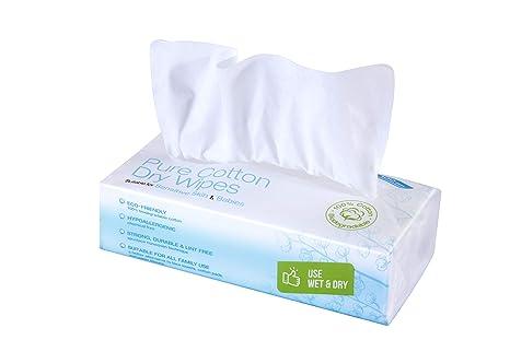 Ivyone - Toallitas Secas de Algodón, Algodón Natural y Biodegradable para Pieles Sensibles, Toallitas para Bebés, Toallitas de Maquillaje y Paños ...