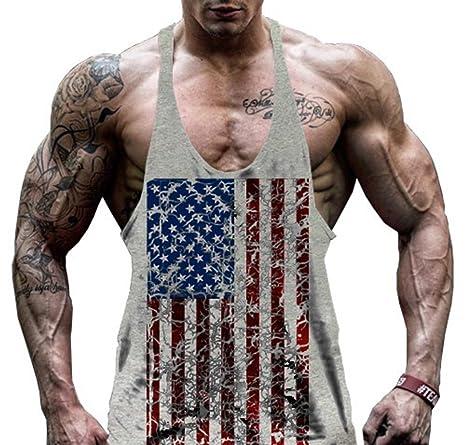 22cde48a29c85 Camiseta sin mangas para hombre Hippolo Gym para ejercicio