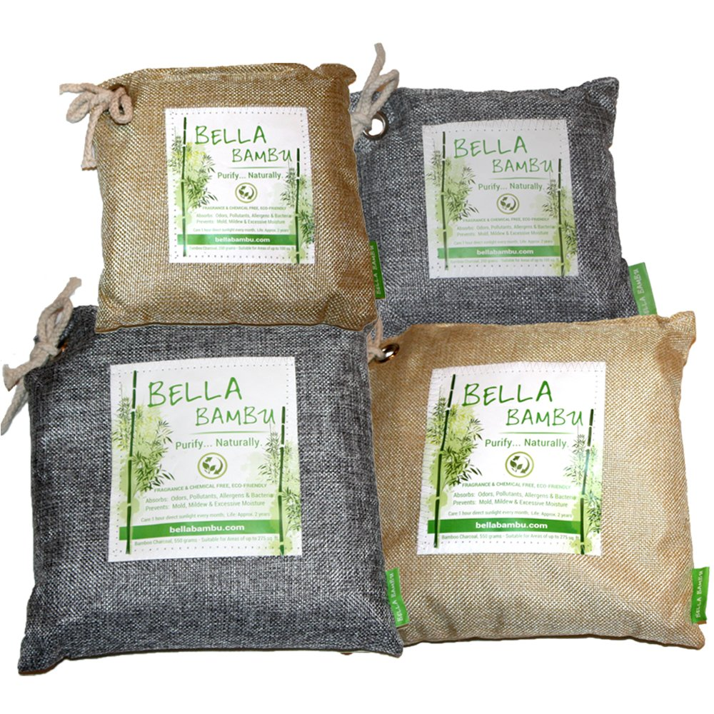 Amazon.com: Bella Bambu Activated Bamboo Charcoal Bag – 100% Natural Air Freshener, Purifier, Deodorizer, and Odor Absorber for The Home, Office, car, ...