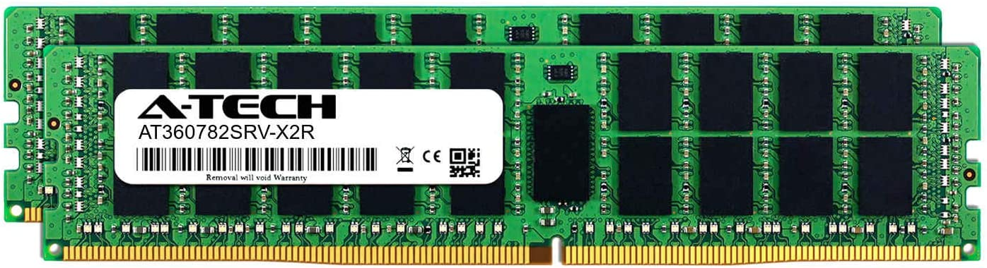 A-Tech 32GB Module for Intel Xeon Gold 6130F DDR4 PC4-19200 2400Mhz ECC Registered RDIMM 2rx4 AT360782SRV-X1R10 Server Memory Ram