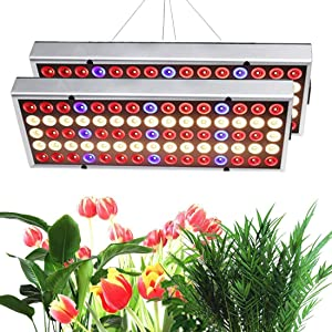 Grow Light for Indoor Plants,2020 Sunlike Full Spectrum Panel Growing Lamp with IR & UV, LED Plant Lights for Seedling/Veg/Succulents (Multiple Panels Can Be Connected, 2 Pack)