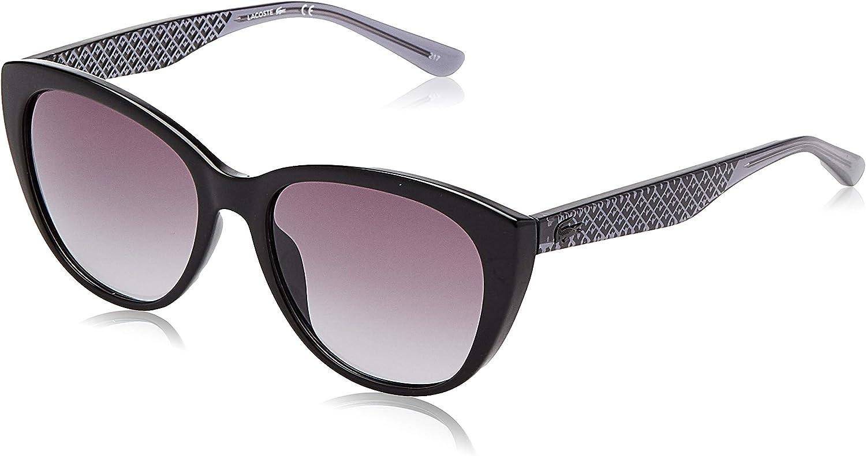 Amazon Com Lacoste Women S L832s Rectangular Sunglasses Black Grey 54 Mm Shoes