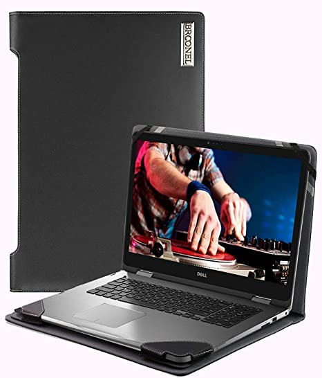 Broonel Black Heavy Duty Leather Protective Case Compatible with The Dell Latitude 3190 2-in-1 11.6 Business Laptop Contour Series