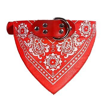 8ff1c22f4cbb BoodTag Bandana Chien Echarpe Foulard Col Triangle Collier Réglable Motif  Paisley pour Chiot Chat Animal de
