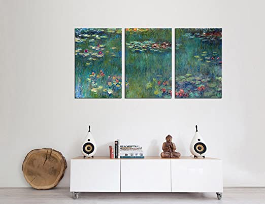 Amazoncom Canvas Wall Art Water Lilies by Claude Monet Painting