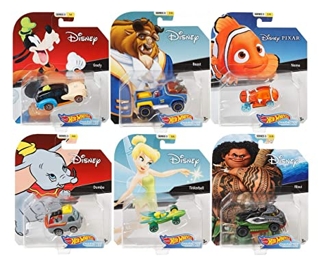 Amazon Com 2019 Hot Wheels Set Of 6 Disney Pixar Character Cars 1
