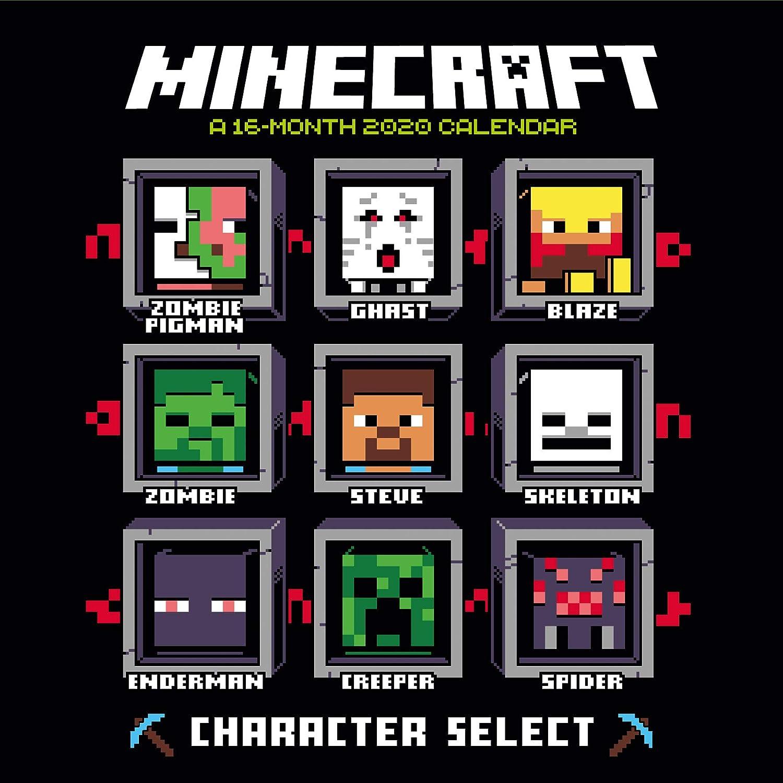Official Square Wall Format Calendar Minecraft 2020 Calendar