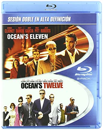 Pack: Oceans Eleven + Oceans Twelve [Blu-ray]: Amazon.es: George Clooney, Brad Pitt, Matt Damon, Andy Garcia, Julia Roberts, Steven Soderbergh, George Clooney, Brad Pitt, Jerry Weintraub: Cine y Series TV