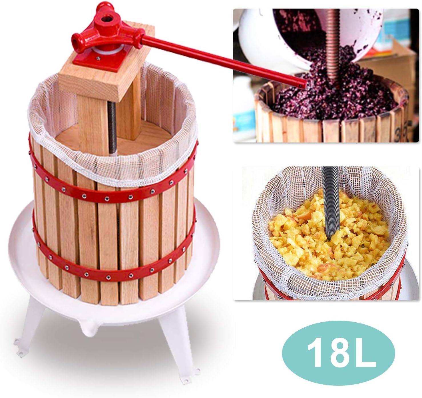 Obstpresse Fruchtentsafter Apfelpresse Pressbeutel Entsafter Obstpresse Saft 18L
