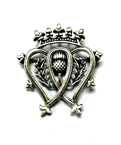 Amazon Pewter Luckenbooth Double Heart Scottish Love Brooch