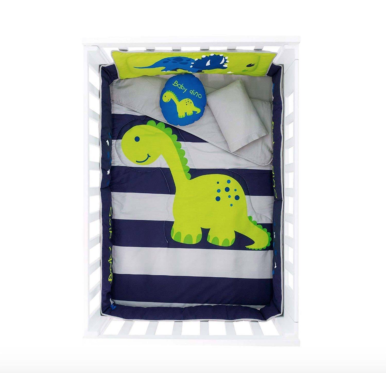 赤ちゃん恐竜6ピースベビーベッド寝具セットfor Boys   B06XGVJX9V