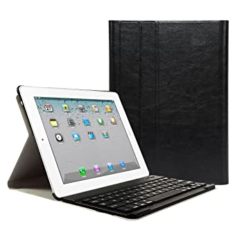 iPad 2 3 4 Funda con Teclado Bluetooth ,CoastaCloud iPad 2/3/4 Funda Cubierta Protectora con Teclado Inalambrico QWERTY Español para Apple iPad 2 ...