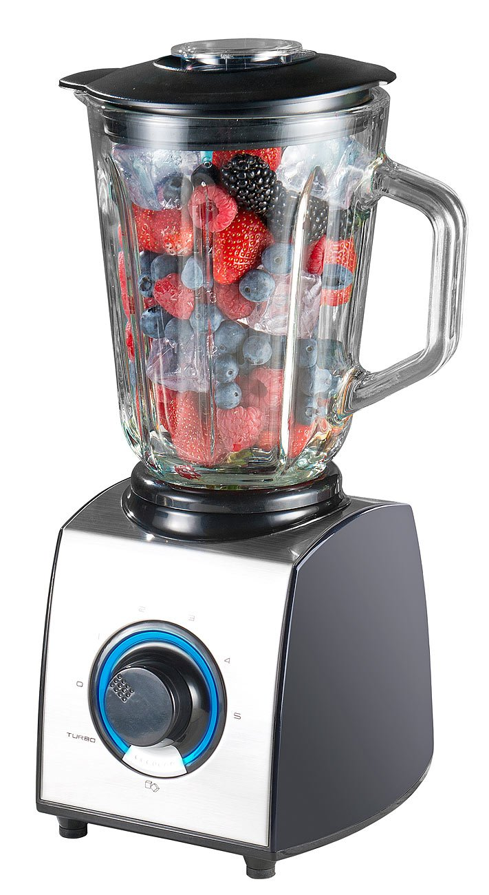 Profi-Clean 600W 1,5l Rosenstein /& S/öhne Mixer: Glas-Standmixer Glasmixer Ice Crush 6 Klingen 7 Modi