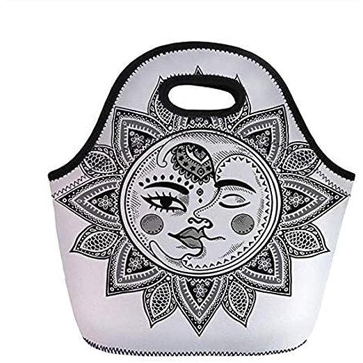 Sol y luna, mandala inspirada en la figura del estilo del tatuaje ...