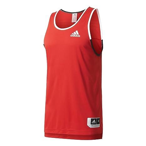 adidas Commander Jerse Camiseta sin Mangas de Baloncesto, Hombre, Rojo (Rojsld/Negro
