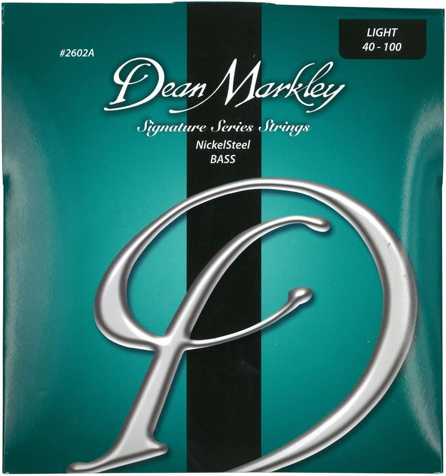040-100 Dean Markley 2602A-LT Light Nickel Steel Bass Guitar Strings
