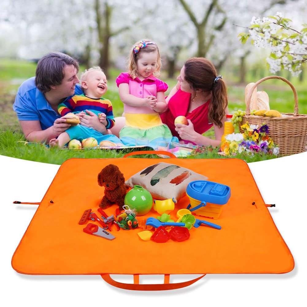Goodjobb Multifunction_Carpet_Picnic_Bag Waterproof Camping_Mat Multifunction Lightweight Beach_Mat Storage_Bag Travel Carpet Picnic Barbecue_Blanket Outdoor by Goodjobb