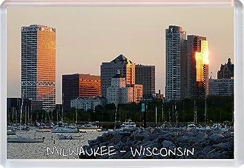 Kühlschrank Querformat : Milwaukee u2013 wisconsin u2013 usa u2013 jumbo kühlschrank magnet u2013 geschenk