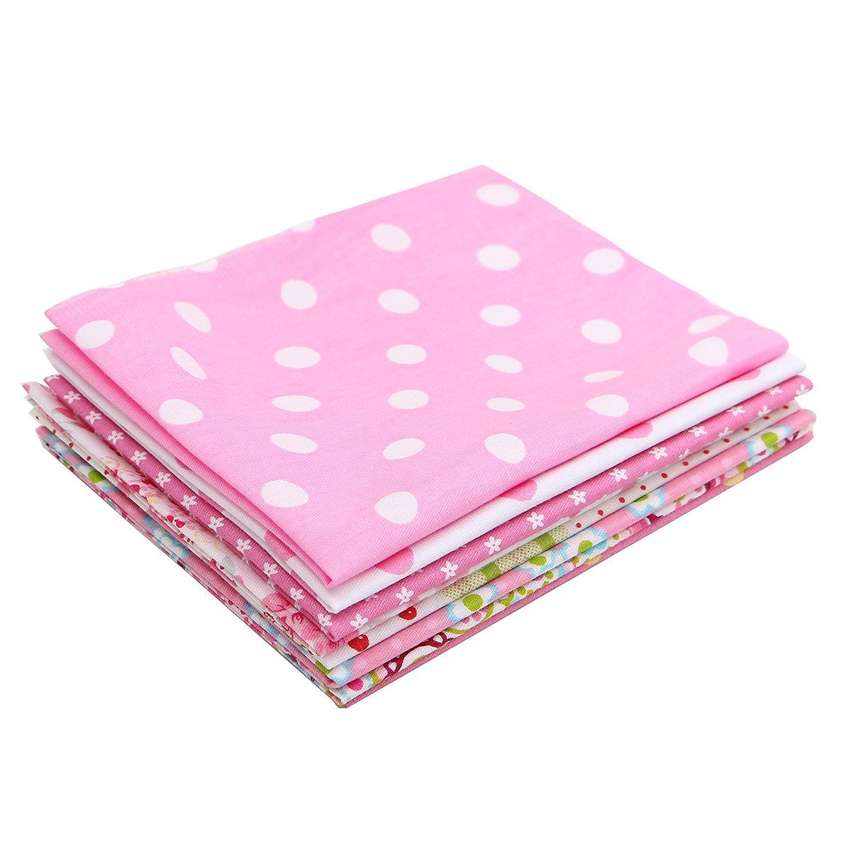 Baban 8pcs Telas de bricolaje de tela / tela de color rosa adecuados para el elemento decorativo y regalo hecho a mano, tales como bufandas, chales, ...