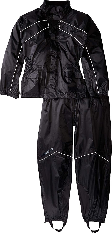 5926025370 Joe Rocket RS-2 Men's Motorcycle Rain Suit (Black, XXX-Large) 71I%2BGAooXLL