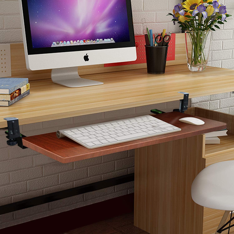 Scorrevole Ergonomico Keyboard Tray//Porta Tastiera Estraibile per Tastiera Computer Desk Vassoio sotto La Tastiera Cyg Supporto Porta Tastiera Estraibile