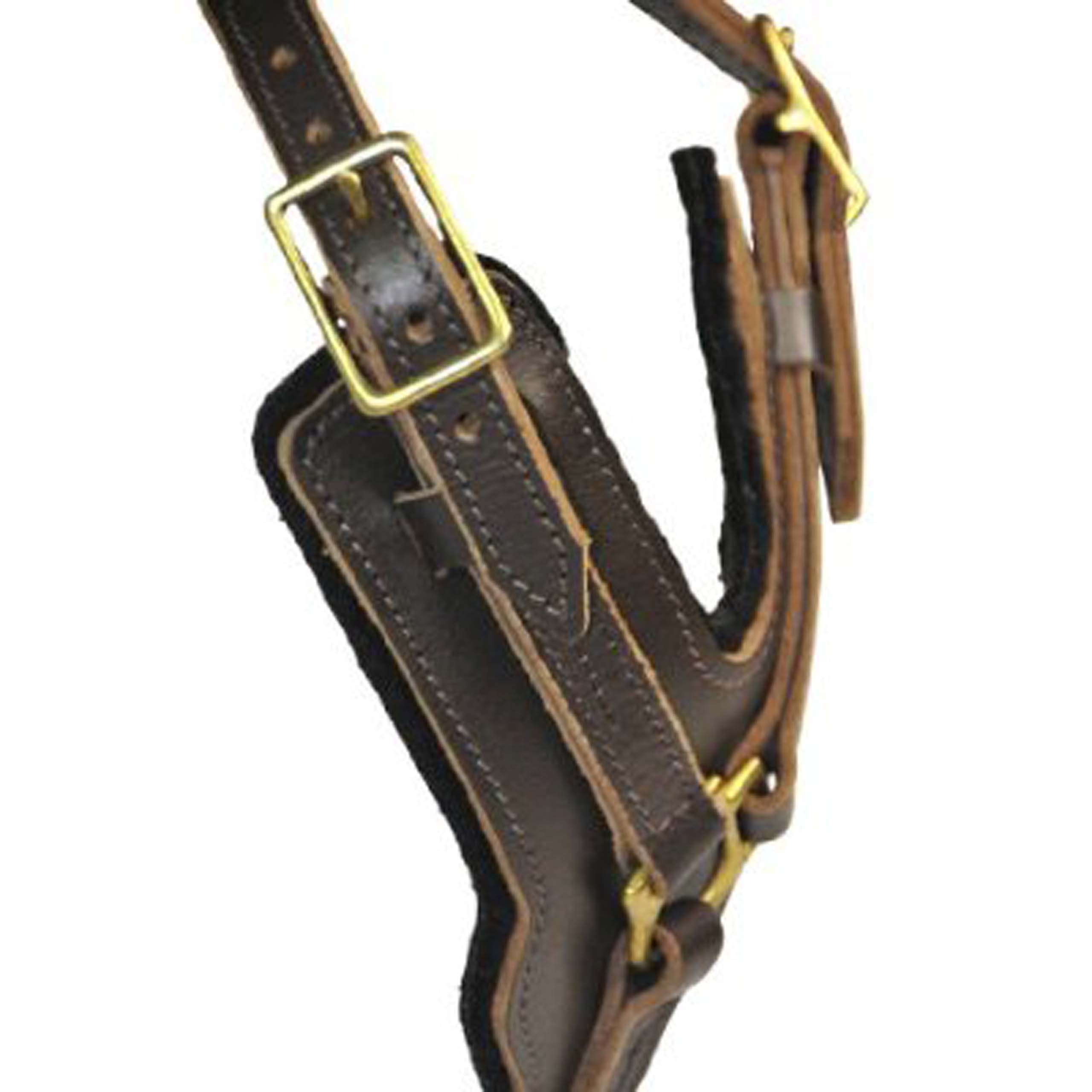 Dean and Tyler The Victory Solid Brass Hardware Dog Harness, Brown, Large - Fits Girth Size: 31-Inch to 41-Inch by Dean & Tyler (Image #3)
