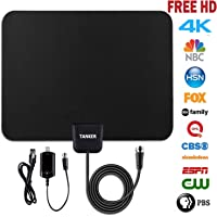 TV Antenna hd,50 Mile Range Amplified Digital Antenna with Amplifier Signal Booster and 10ft Coaxial Cable,HDTV Antenna Support All Digital-Ready and FHD Televisions