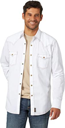 Wrangler Retro Two Pocket Long Sleeve Snap Shirt Camisa para Hombre