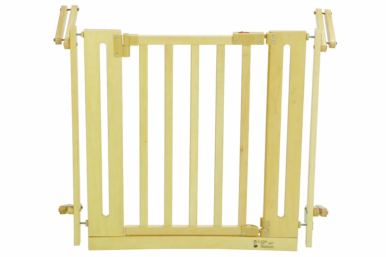 SPRINGOSⓇ Treppenschutz T/ürgitter Treppengitter Sicherheitsbarriere Baby T/ürschutzgitter 74-84 cm, Wei/ß einstellbare Breite von 77 bis 84 cm Wei/ß
