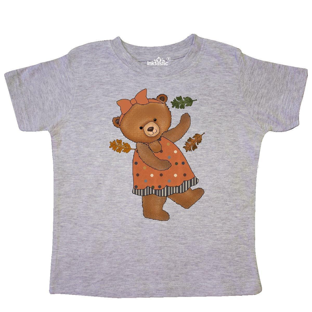 inktastic Little Miss Fall Teddy Toddler T-Shirt