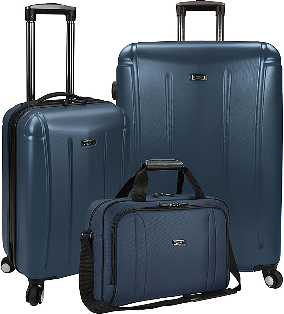 U.S. Traveler 3-Piece Spinner and Boarding Bag Luggage Set