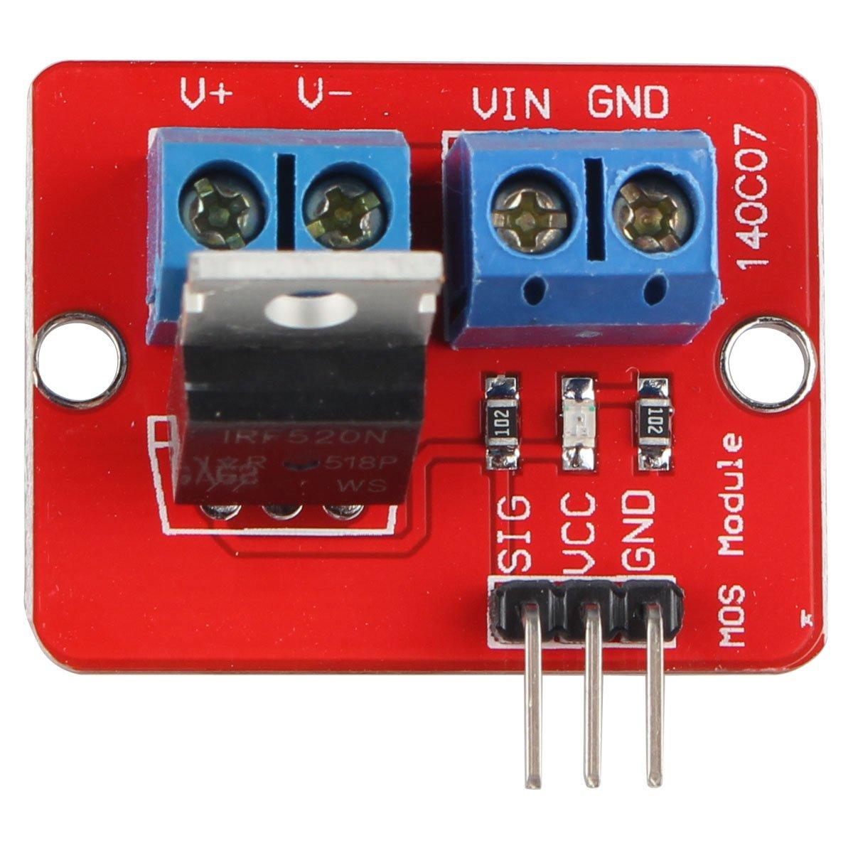 HALJIA IRF520 MOS FET MOSFET Driver Module for Arduino Raspberry Pi ARM MCU