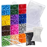 Pixel Art Bead Fuse Beads Perler Compatible (Large Kit) Colorful Bead Create 2D Pixelated Wall Art, Retro Video Games Characters, Animals, Designs, Fashion Accessories | Fuse Beads Kits with Peg Board