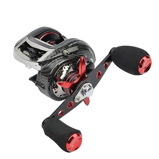 Amazon.com : JEKOSEN Low Profile Baitcasting Fishing Reel 6.3:1(BR100)/7.1:1(BM200) Gear Ratio : Sports & Outdoors