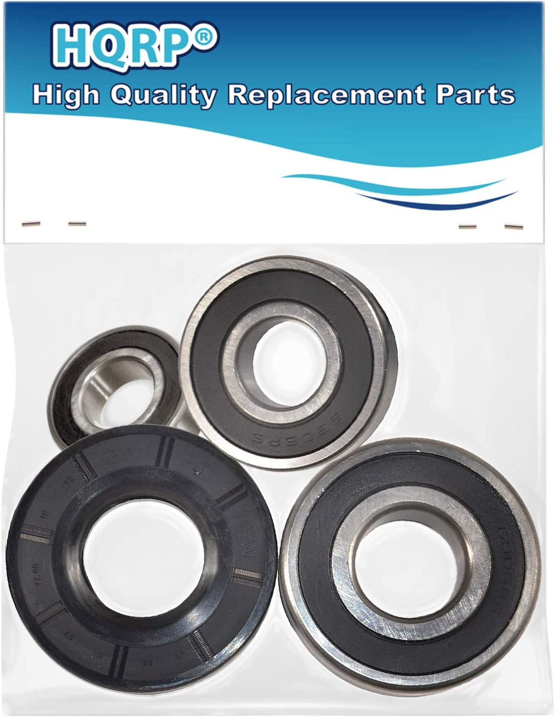 HQRP Bearing and Seal Kit works with Whirlpool WFW9200SQ00 WFW9200SQ01 WFW9200SQ02 WFW9200SQ03 WFW9200SQ04 WFW9300VU02 Front Load Washer Tub