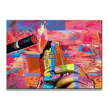 Black Blow Paint Art