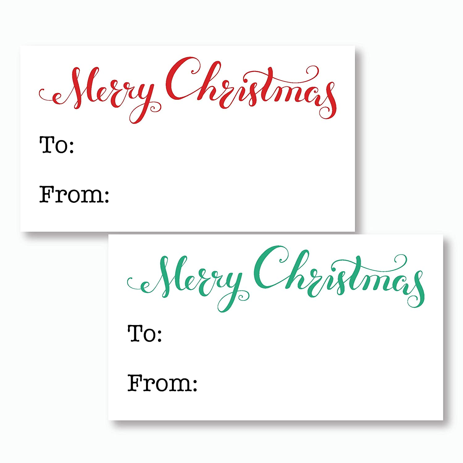 60ct - Christmas Gift Labels, Christmas Gift Wrapping To/From Labels (#521)