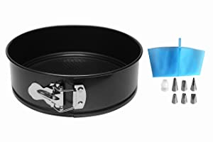 MiHerom 8 Inch Non Stick Springform Pan,Leakproof Round Cheesecake Pan,Higher Sides with Piping Set,Accessories for 6,8 Qt Pressure Cooker,Instant pot,Air Fryer,8.5 Cup