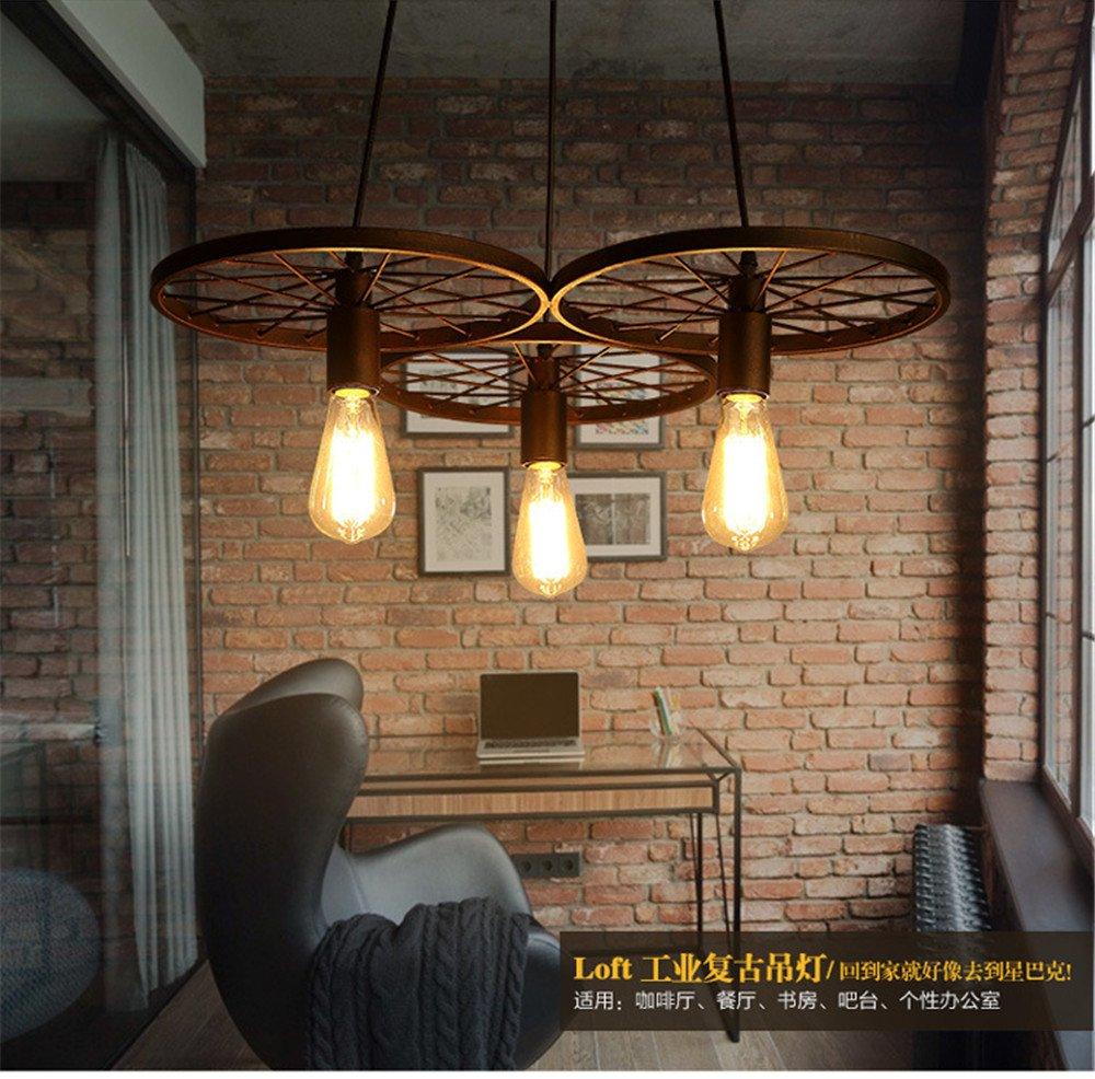 Sparkling FRD Retro Lampadario Industriale Creative Personality Restaurant Lampada a sospensione, regolabile, 60 * 13 * Linea Lunghezza 100cm [Classe di efficienza energetica A+++]