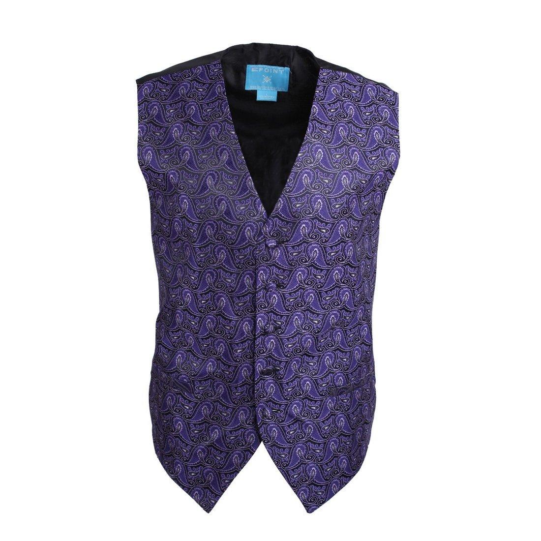 EGC1B08C-3XL Dark Violet Patterned Working Day Men Waistcoat Woven Microfiber Birthday Men XXX-Large Vest By Epoint