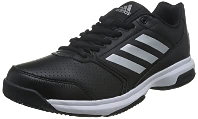 outlet store 90739 a29b6 Adidas Men s Adizero Attack Cblack, Silvmt and Ftwwht Tennis Shoes - 11  UK India
