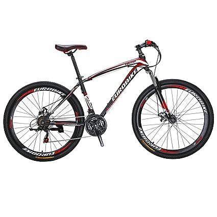 Eurobike X1 - Freno de disco doble para bicicleta de montaña de 21 velocidades (27