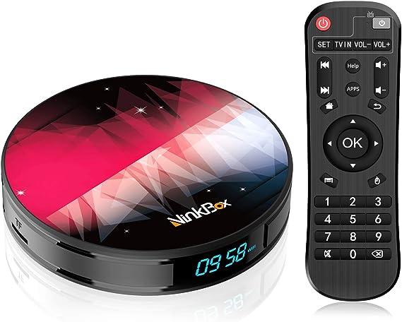 Android TV Box 9.0 【4GB RAM+64GB ROM】 NinkBox N2 Plus RK3318 Quad-Core 64bit Cortex-A53, TV Box Android WiFi 2.4G/5G, 3D Ultra HD 4K, USB 3.0, BT 4.0 Smart TV Box: Amazon.es: Electrónica
