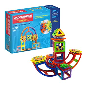 Amazon Magformers Magnets In Motion Set 61 Pieces Magnetic