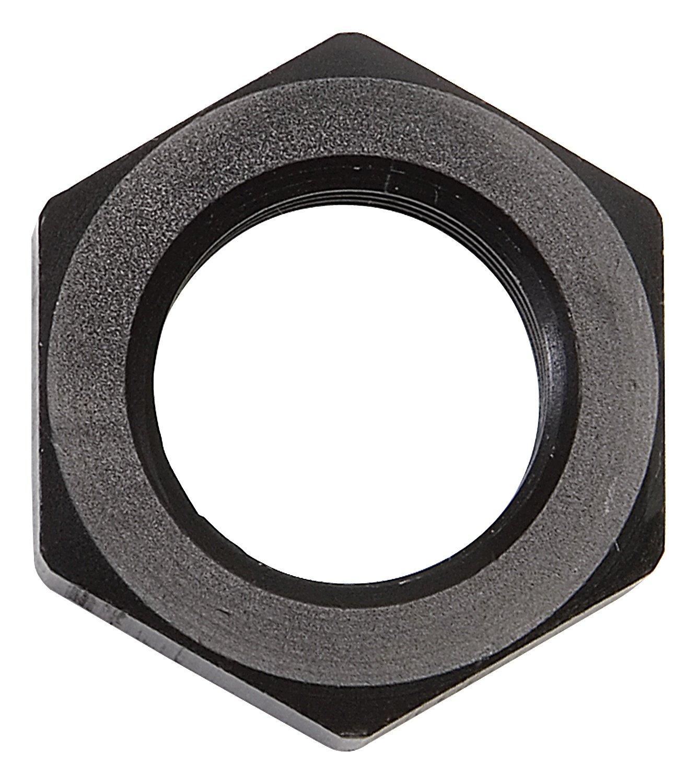 Russell by Edelbrock 661893 Black 6 AN 9//16-18 Thread Size Bulkhead Nut