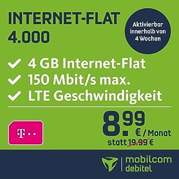 Mobilcom Debitel Internet Flat 4000 Im Telekom Netz Amazonde